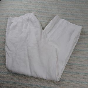 SOLD Chicos 3R (XL) Solid White Linen n Pants